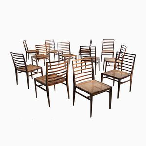 Jacaranda Dining Chairs by Joaquim Tenreiro, 1950s, Set of 12