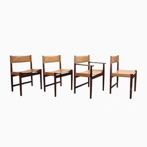 Vintage Palisander Esszimmerstühle von Kurt Ostervig für Sibast, 4er Set