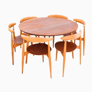 Danish Dining Set by Hans Wegner for Fritz Hansen