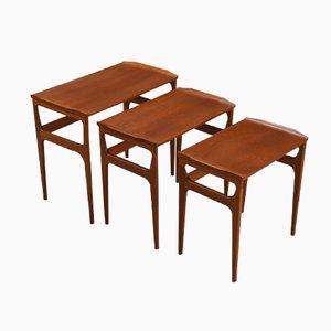 Danish Mid-Century Teak Nesting Tables from Heltborg Møbler for Domus Danica, 1960s