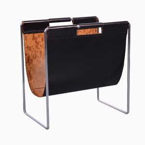 Saddle Leather Magazine Rack from Brabantia, 1950s