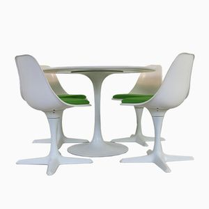 Dutch Tulip Dining Set by Maurice Burke for Arkana, 1975, Set of 5
