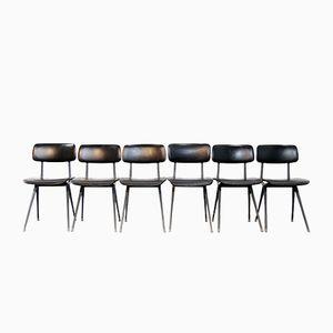 Industrielle Result Esszimmerstühle von Friso Kramer für Ahrend de Cirkel, 1960er, 6er Set