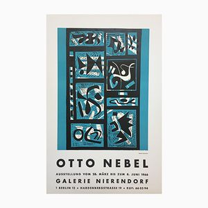 Vintage Affiche for the Otto Nebel Exhibition at Galerie Nierendorf Berlin, 1966
