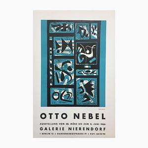 Vintage Poster für Otto Nebel Ausstellung in Galerie Nierendorf Berlin, 1966