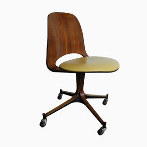 Mid-Century Plywood Desk Chair by George Mulhauser for Plycraft