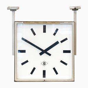 Horloge Murale Double Face de TN Telenorma, 1960s