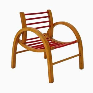Beech Children's Chair from Baumann, 1950s