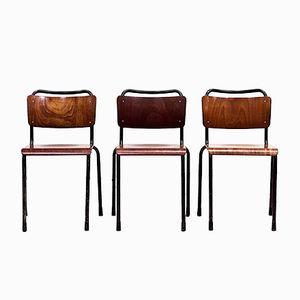Niederländische Industrielle Th. Delft Stühle von W.H. Gispen für Gispen, 1952, 3er Set
