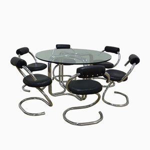 Table and Six Chairs by Giotto Stoppino for Stoppino, 1970s