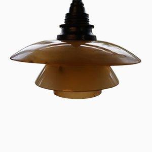 PH1/1 Hängelampe mit Opalglas Lampenschirm von Poul Henningsen, 1930er