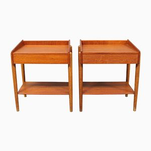 Model 184 Bedside Tables by Borge Mogensen for Soborg, 1960s, Set of 2