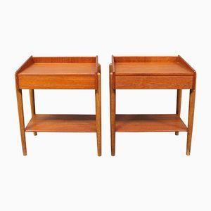 Tables de Chevet Modèle 184 par Borge Morgensen pour Soborg, 1960s, Set de 2