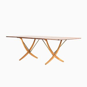 Saber Leg Dining Table by Hans J. Wegner for Andreas Tuck, 1950s