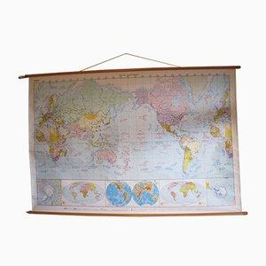 Vintage Large New World School Map