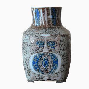 Keramik Vase in Blau & Grau von Royal Copenaghen, 1960er