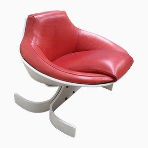 Chaise Sella 1001 Rouge en Cuir par Joe Colombo pour Comfort Italy, 1960s