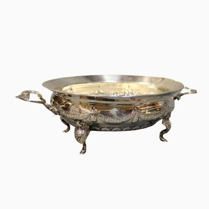 Vintage Danish Silver Oblong Bowl from Christian Fr. Heise