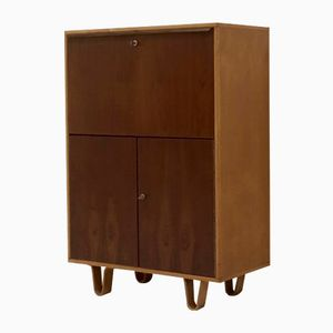 Mid-Century Birch Series Secretaire Cabinet by Cees Braakman for Pastoe