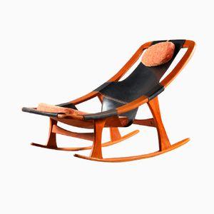 Chaise à Bascule Holmenkolm par Arne Tidemand Ruud pour Norcraft, 1959