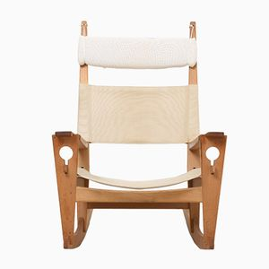 Mid-Century Danish Keyhole Rocking Chair by Hans J. Wegner for Getama