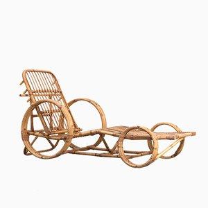 Dutch Rattan Deck Chair from Rohe Noordwolde, 1950s