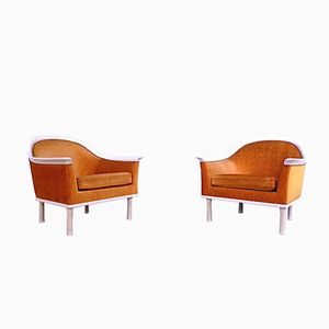 Mohair Club Chairs, 1960s, Set of 2
