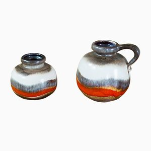 Vintage German Vases from Scheurich, Set of 2