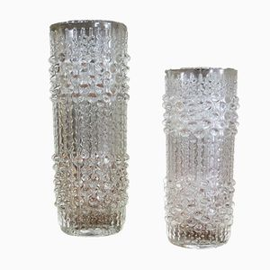 Vintage Czech Candle Wax Vases by Frantisek Peceny for Hermanova, Set of 2