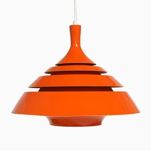 Swedish Orange Pendant by Hans Agne Jakobsson for Markaryd, 1960s