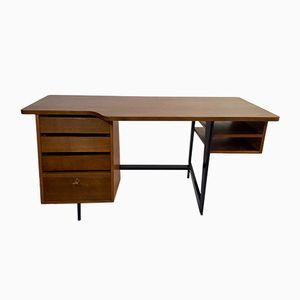 French Oak Office Desk by Claude Vassal for Mobiliers Pilots, 1950s