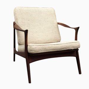 Mid-Century Danish Teak Easy Chair by Arne Hovmand Olsen for Mogens Kold, 1960s