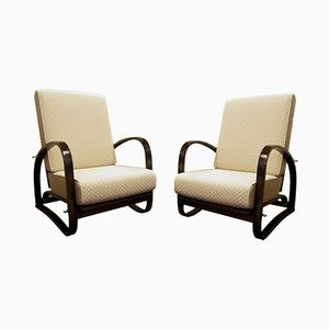 Vintage Adjustable H-70 Armchairs by Jindrich Halabala for UP Zavody, Set of 2