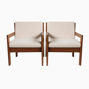 Mahogany Armchairs by Andre Sornay, 1960s, Set of 2