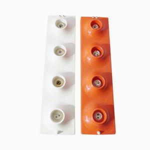 Lampes Murales Vintage en Plastique, 1970s, Set de 2