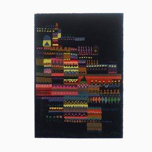 Wandteppich aus Geknüpfter Wolle von Schwabinger Kunstler Kollection, 1960er