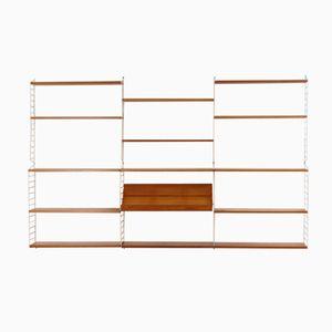 Regalsystem aus Kiefernholz von Nisse Strinning für String Design AB, 1960er