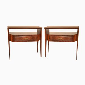 Vintage Italian Bed Side Cabinets by Vittorio Dassi, Set of 2