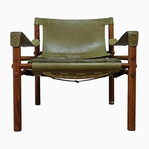 Vintage Green Sirocco Easy Chair by Arne Norell