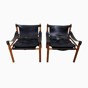 Vintage Sirocco Easy Chairs by Arne Norell, Set of 2