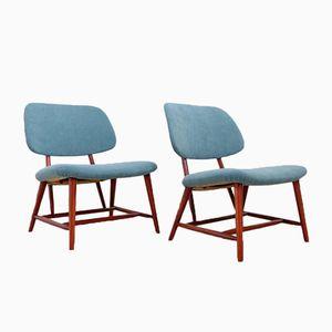 Easy Chairs Te-Ve par Alf Svensson pour Ljungs Industrier AB, Suède, 1950s, Set de 2