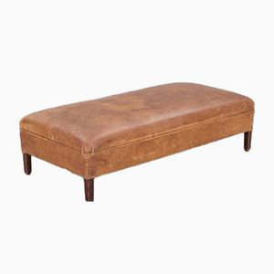 Danish Leather Bench, 1930s