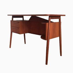 Dänischer Vintage Mid-Century Teak Damen Schreibtisch von Gunnar Nielsen Tibergaard