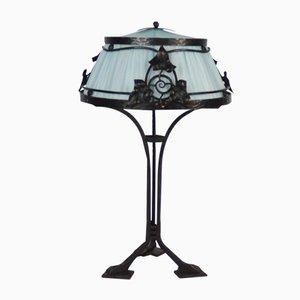 Lampe de Bureau en Fer Forgé, France, 1910s