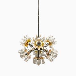 Murano Glass & Chrome Sputnik Lamp from Mazzega, 1970s