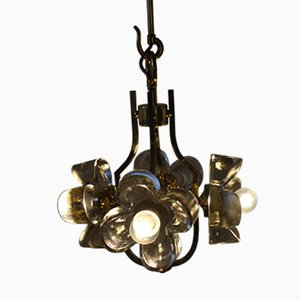 Floral Glass Chandelier by Simon & Schelle, 1960