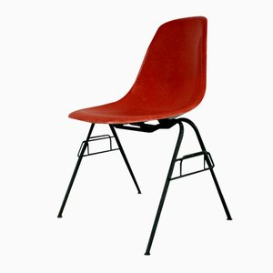 Vintage Red DSS Stacking Chair by Charles Eames for Herman Miller
