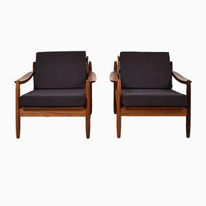 Mid-Century Teak Chairs, 1960s, Set of 2
