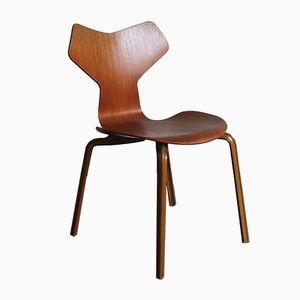 Chaise Grand Prix 4130 Vintage par Arne Jacobsen pour Fritz Hansen