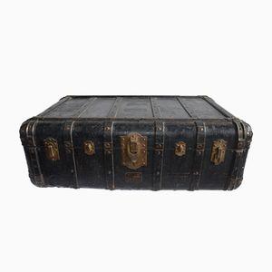 Antiker Koffer aus Leder & Holz